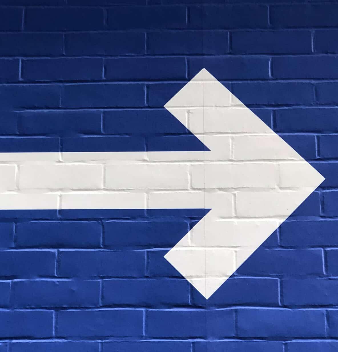 Arrow on wall