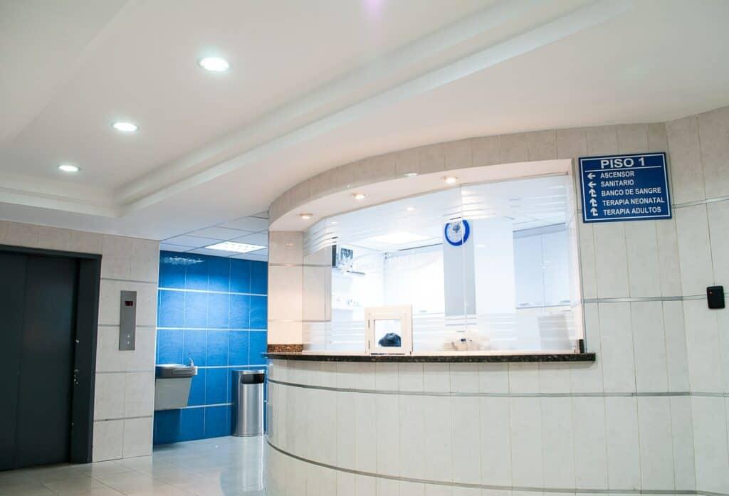 Hospital reception.