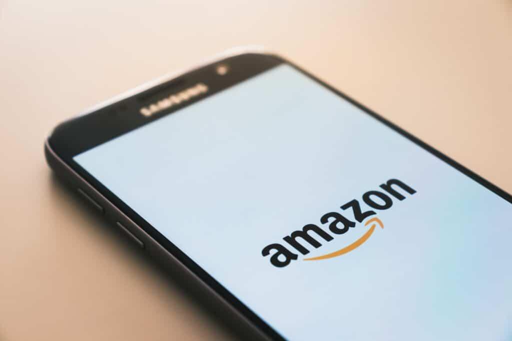 Amazon on phone